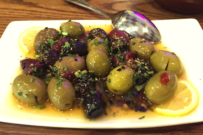 photo of mixed olives from Aladdin's Grill, Revere, MA