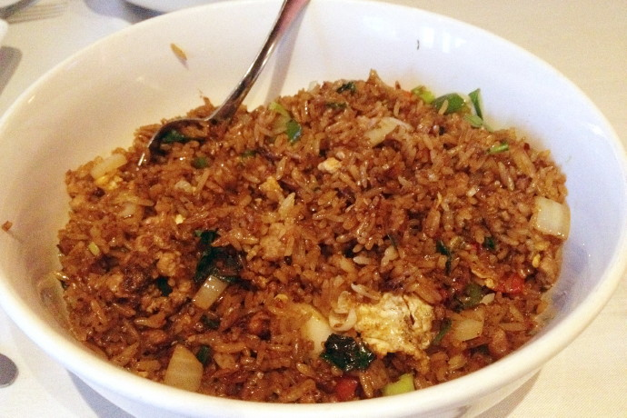 photo of basil fried rice with ground pork from All Seasons Table, Malden, MA