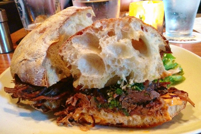 photo of Argentine beef sandwich from Armsby Abbey, Worcester, MA