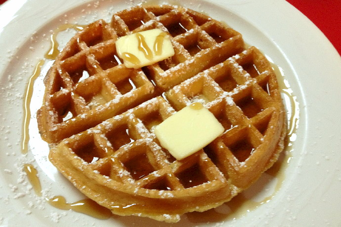 photo of a waffle from Ashley's, Braintree, MA
