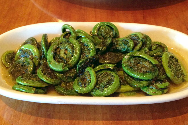 photo of fiddleheads from the Ashmont Grill, Dorchester, MA