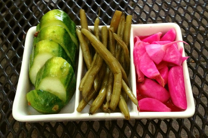 photo of pickled veggies from the Ashmont Grill, Dorchester, MA