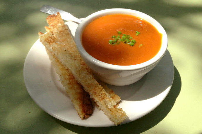photo of roasted tomato soup from Beach Plum Bakery Cafe, South Dartmouth (Padanaram Village), MA