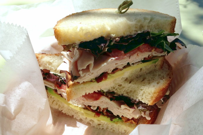 photo of a turkey, bacon, and avocado sandwich from Beach Plum Bakery Cafe, South Dartmouth (Padanaram Village), MA