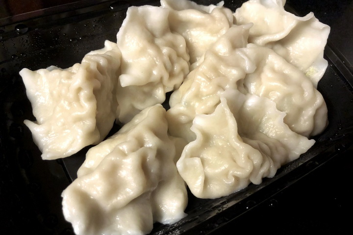 photo of dumplings with pork and cabbage from Beijing, Lexington, MA