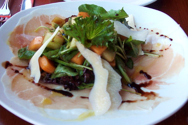 photo of summer melon salad from the Blue Ox, Lynn, MA