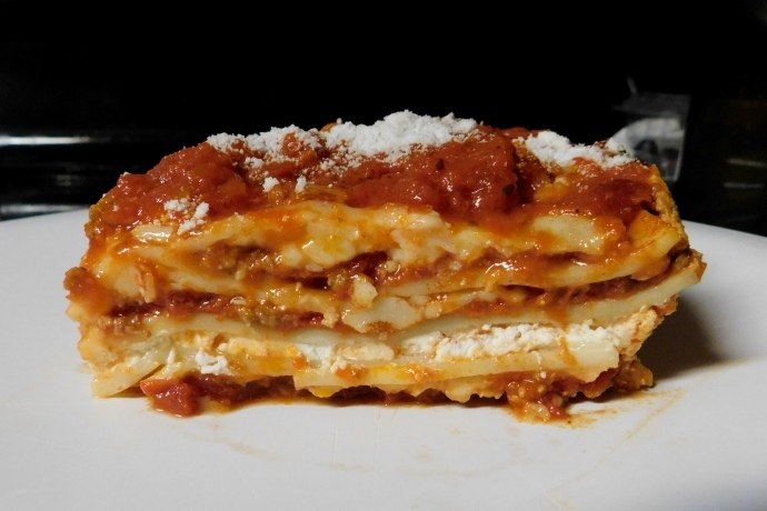 photo of lasagna from Bob's Italian Foods, Medford, MA