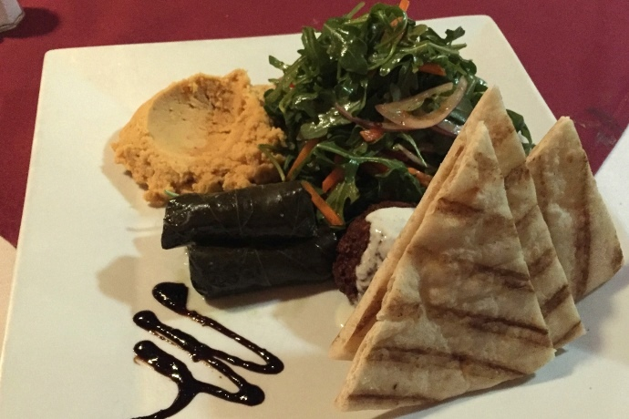 photo of a Mediterranean Platter from Brothers Restaurant, Brookline, MA
