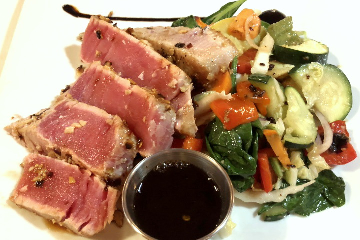 photo of pan-seared rare tuna from Brothers Restaurant, Brookline, MA
