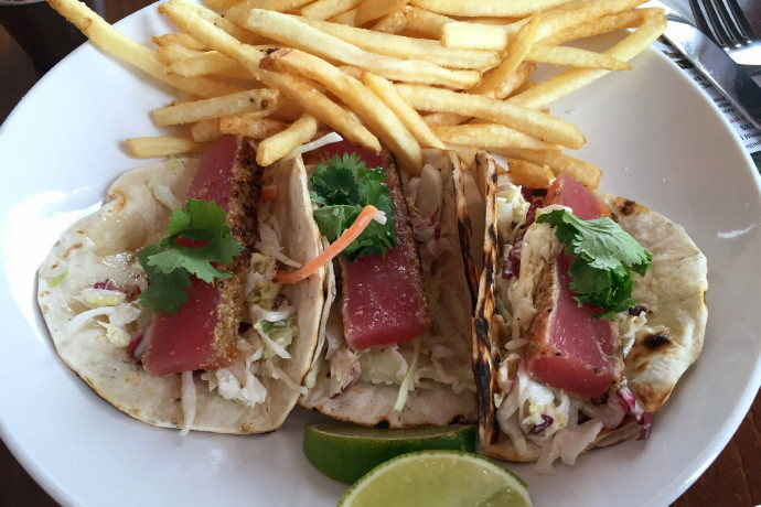 photo of tacos with seared tuna from CK Pearl, Essex, MA, MA