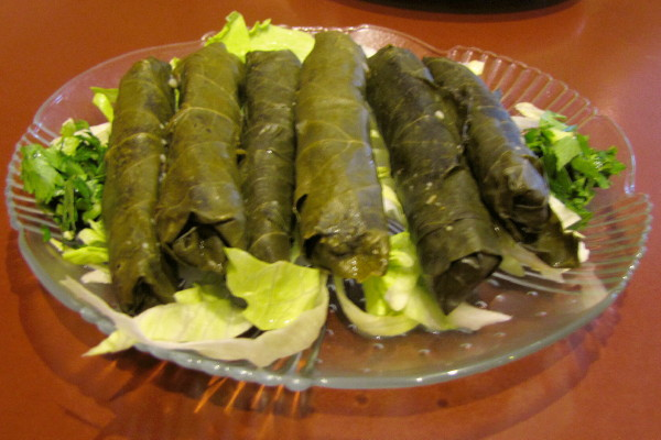 photo of stuffed grape leaves from Cafe Barada, Cambridge, MA