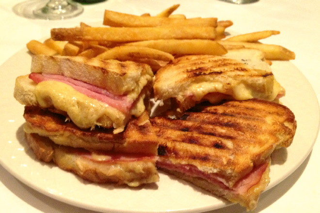 photo of croque monsieur from Cafe de Paris, Quincy, MA