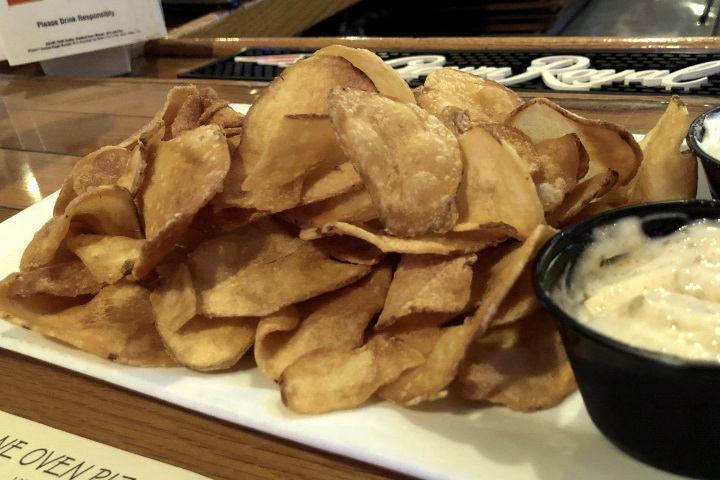 photo of house-made chips from Cagney's, Quincy, MA