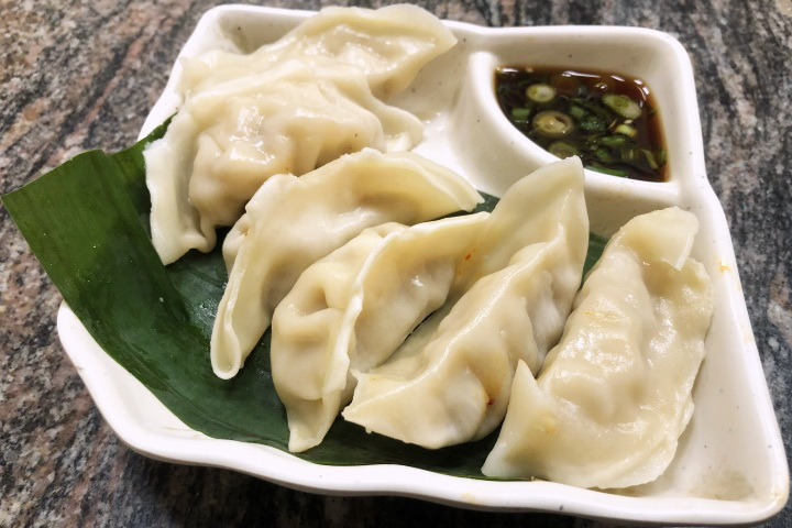 photo of steamed pork dumplings from Cho Cho's, Cambridge, MA