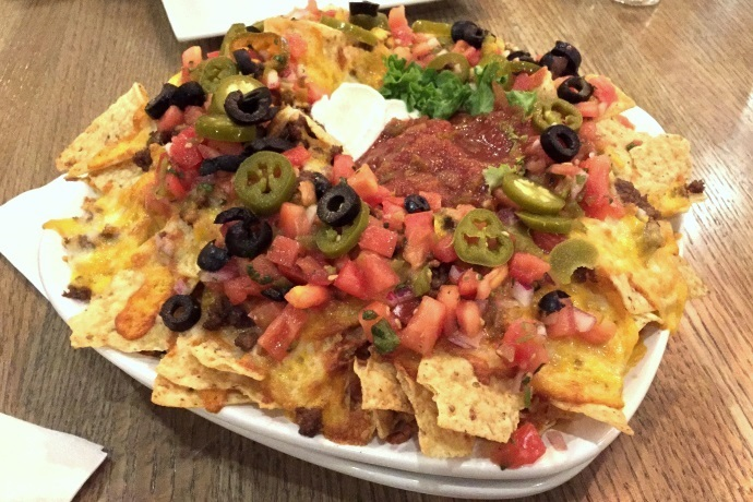 photo of nachos from City Streets, Waltham, MA