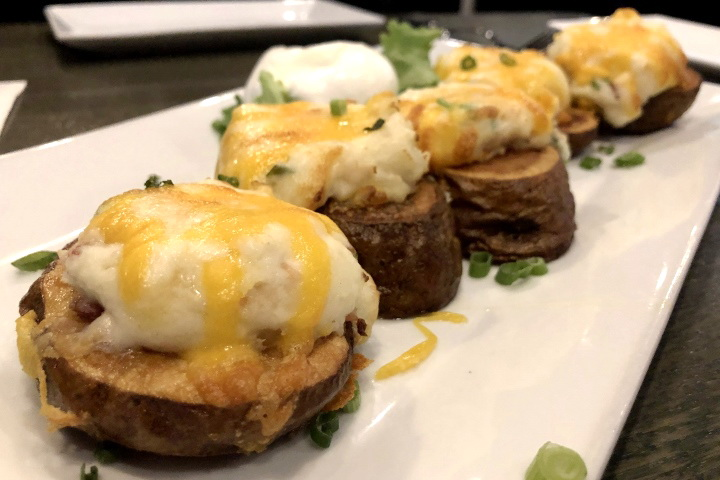 photo of twice-baked potato skins from City Streets, Waltham, MA