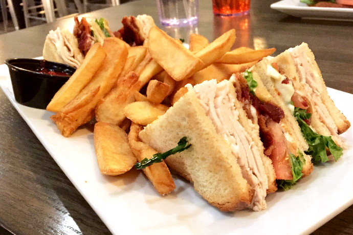photo of a turkey club from City Streets, Waltham, MA