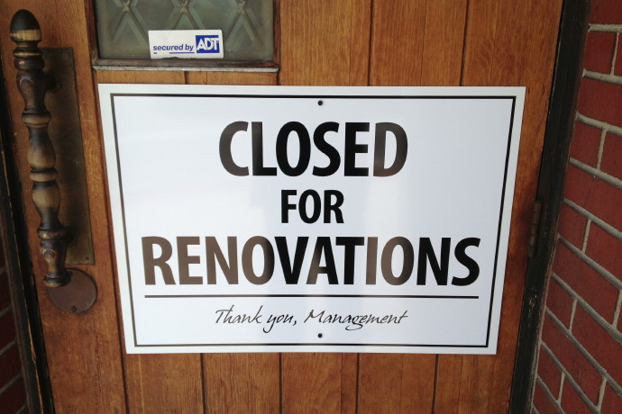 photo of closed for renovations sign