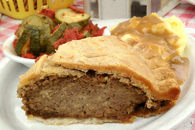 photo of a meat pie from Commons Lunch, Little Compton, RI