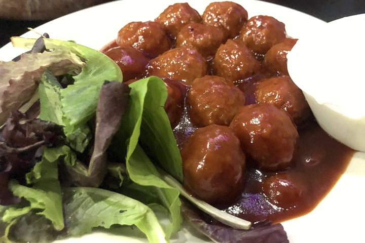 photo of drunken buffalo meatballs from Coop's Bar and Grille, Quincy, MA