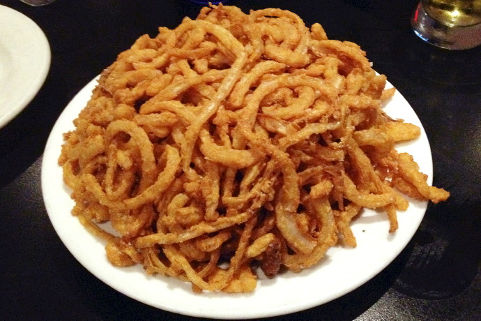 photo of onion strings from Coop's Bar and Grille, Quincy, MA