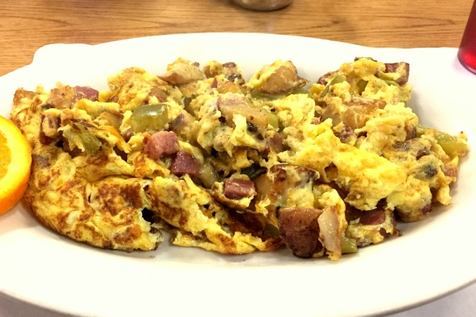 photo of hash scrambler from Corner Cafe, Stoughton, MA