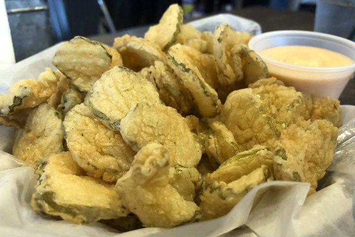 photo of fried pickles from the Corner Pub, Boston, MA