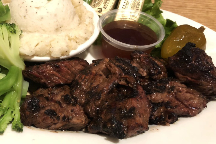 photo of steak tips from Cronin's Publick House, Quincy, MA