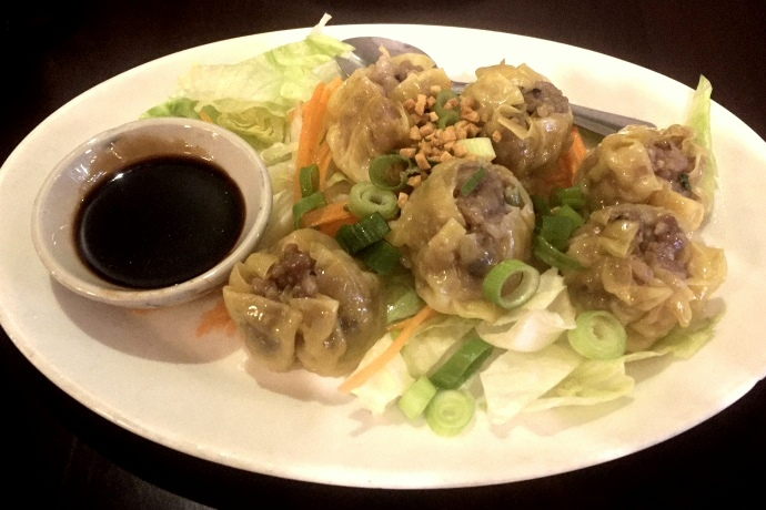 photo of pork dumplings (shumai) from Dok Bua, Brookline, MA