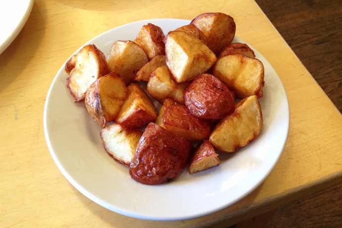 photo of home fries from Dot 2 Dot Cafe, Dorchester, MA