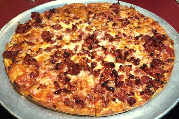 photo of hamburg pizza from Emma's Pub and Pizza, Bridgewater, MA