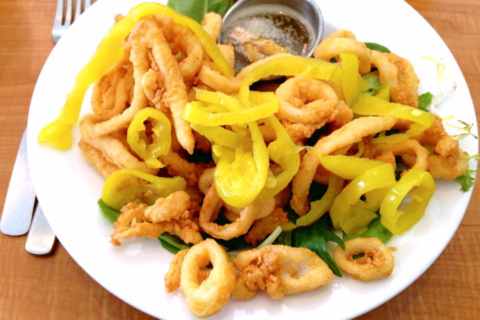 photo of calamari from Evelyn's Drive-In, Tiverton, RI