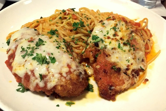 photo of chicken parmigiana from The Fairmount Grille, Hyde Park, MA