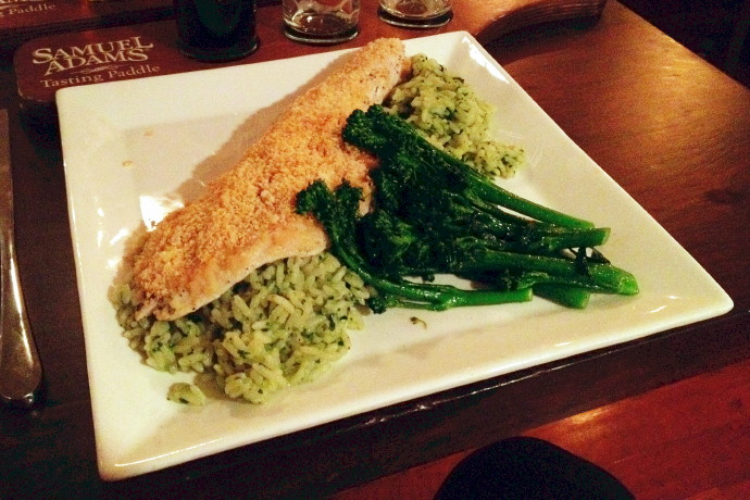 photo of baked haddock from The Fairmount Grille, Hyde Park, MA