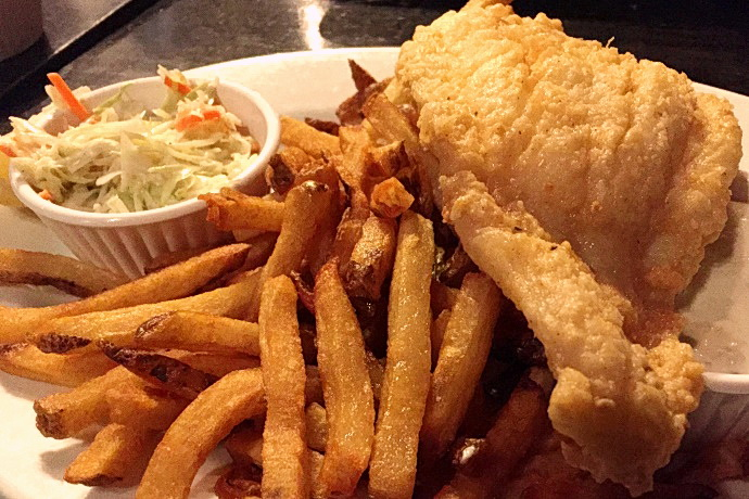 photo of fish and chips from the Fat Cat, Quincy, MA