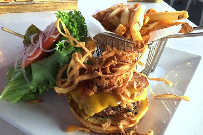 photo of a cheeseburger from Four Winds Pub and Grill, Lynn, MA