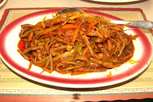 photo shredded dry beef with chili sauce from golden garden belmont ma bostons hidden restaurants - Golden Garden
