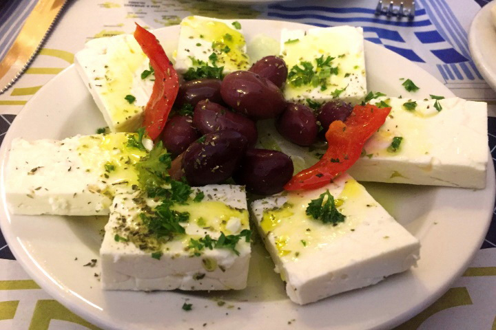 photo of feta and olives from Greek Corner, Cambridge, MA