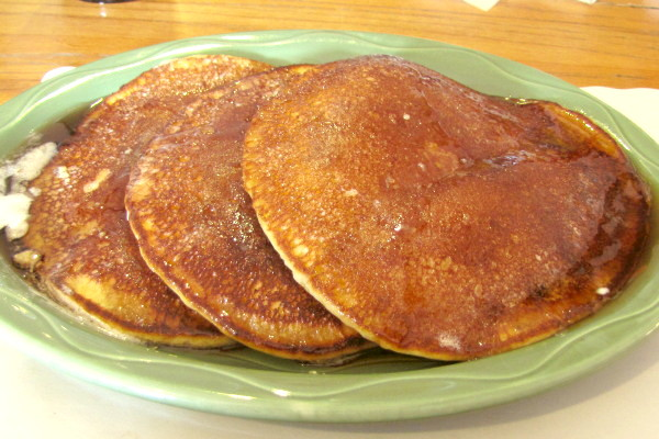 photo of cornmeal pancakes from Grumpy's Restaurant, Dennis, MA
