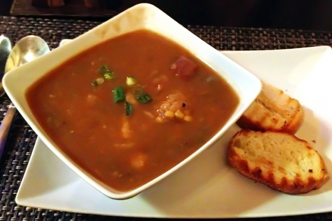 photo of ajiaco criollo (traditional Cuban stew) from Gustazo Cuban Cafe, Belmont, MA