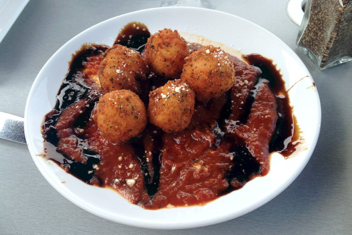 photo of arancini from the Inn at Bay Pointe, Quincy, MA