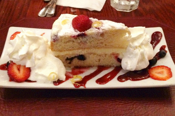 photo of lemon mascarpone cake from the Inn at Bay Pointe, Quincy, MA