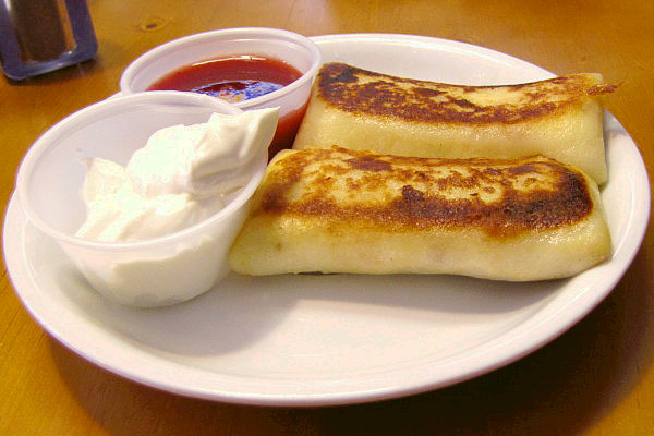 photo of cheese blintzes from Inna's Kitchen, Newton, MA