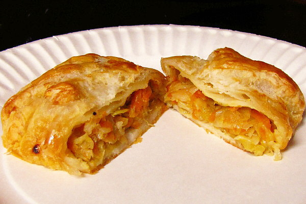 photo of cabbage knish from Inna's Kitchen, Newton, MA