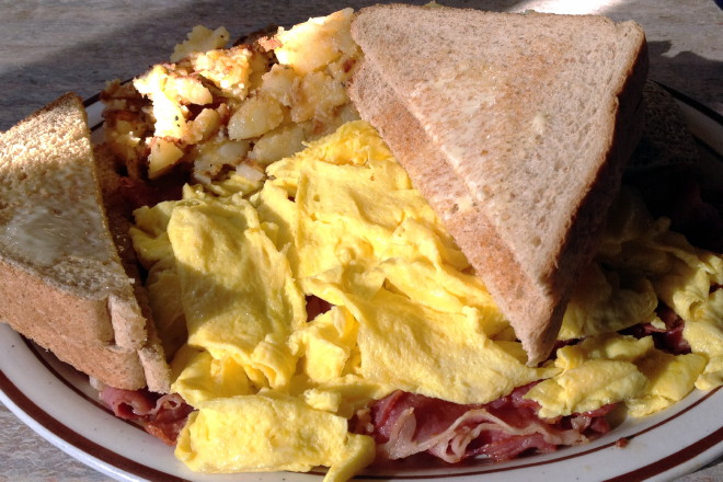 photo of breakfast plate from Jimmy's Broad Street Diner, Weymouth, MA