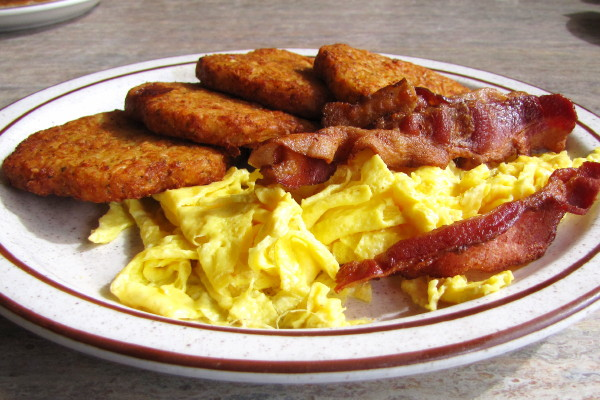 photo of potato pancake plate from Jimmy's Broad Street Diner, Weymouth, MA