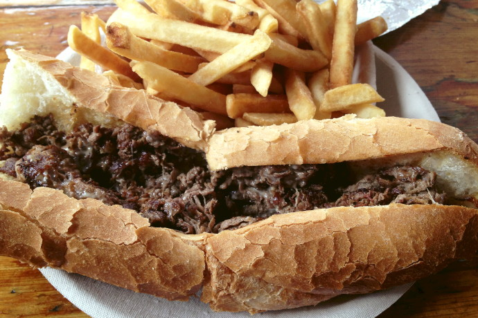 photo of steak and cheese from Johnson's Drive-In, Groton, MA