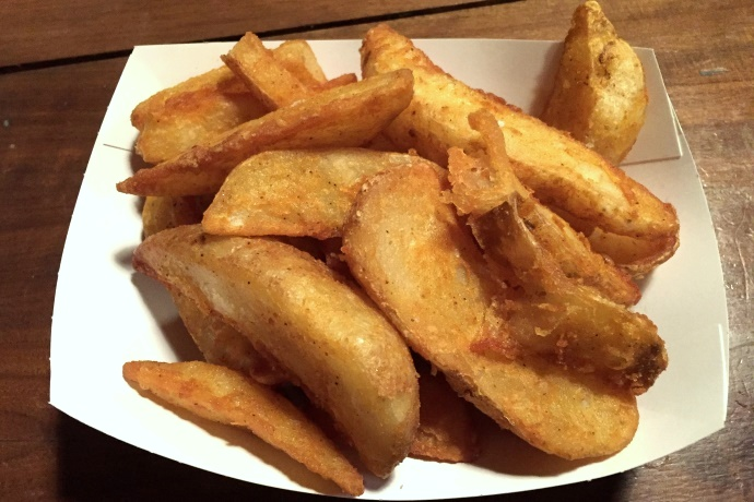 photo of potato wedges from KO Pies at the Shipyard, East Boston, MA