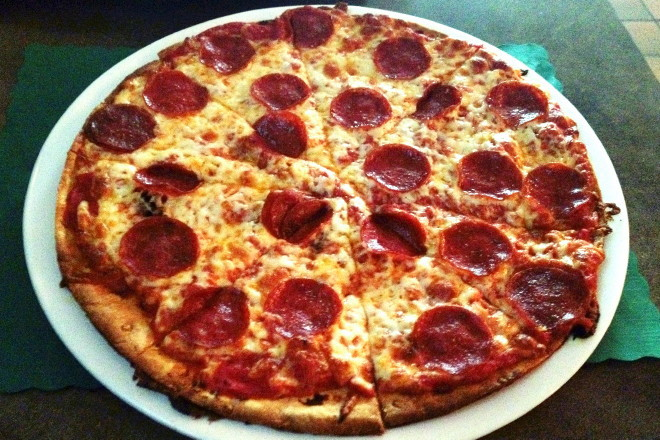 photo of pepperoni pizza from Kelleher's Bar and Grille, Roslindale, MA