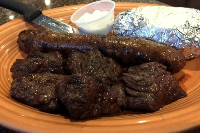 photo of mixed grill from Kelley Square Pub, East Boston, MA